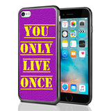 YOLO You Only Live Once Purple Yellow
