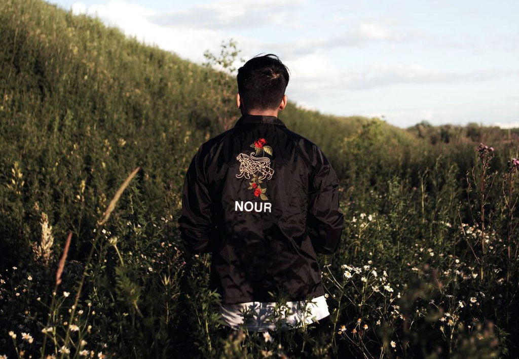 lion of allah embroidery coach jacket by nour