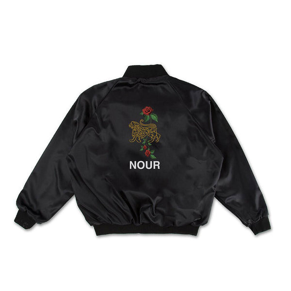 Lion Of Allah Embroidery Lightweight Satin Stadium Jacket