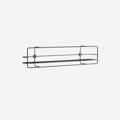 SIMPLE FORM.-WOUD Coupe Horizontal Shelf Black Shelf