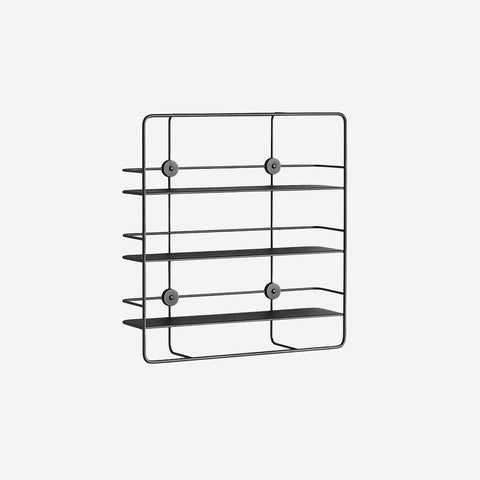 SIMPLE FORM.-WOUD Coupe Shelf Black Shelf