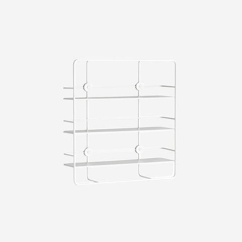SIMPLE FORM.-WOUD Coupe Shelf White Shelf