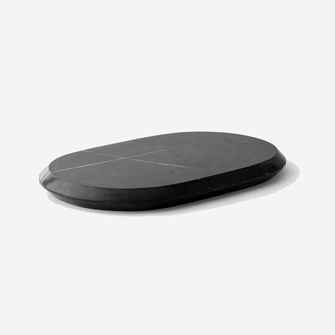 SIMPLE FORM. - Menu - Chamfer Serving Board Large - Black Marble or Crystal - Serveware Black Marble