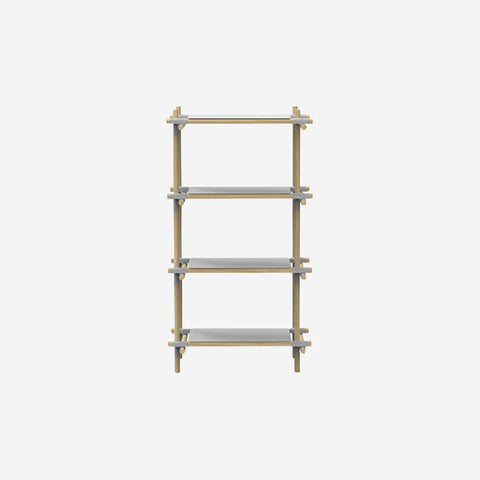 SIMPLE FORM.-Menu Stick System Shelving Grey Shelf