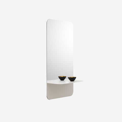 SIMPLE FORM.-Normann Copenhagen Horizon Mirror Vertical White Mirror