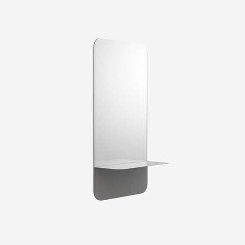 SIMPLE FORM.-Normann Copenhagen Horizon Mirror Vertical Grey Mirror
