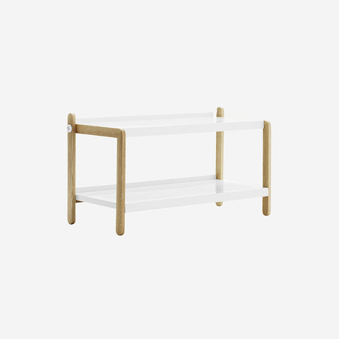SIMPLE FORM.-Normann Copenhagen Sko Shoe Rack White Shoe Rack