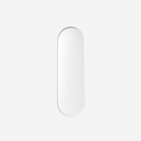 Norm Wall Mirror Oval White