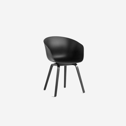 SIMPLE FORM.-Hay AAC22 Black + Black Chair