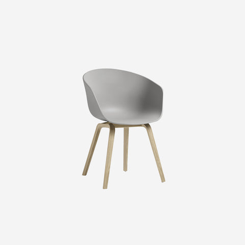 SIMPLE FORM.-Hay AAC22 Grey + Oak Chair