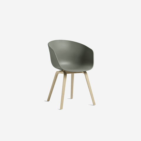 SIMPLE FORM.-Hay AAC22 Green + Oak Chair