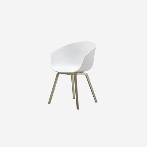 SIMPLE FORM. - Hay - AAC22 White + Oak - Chair