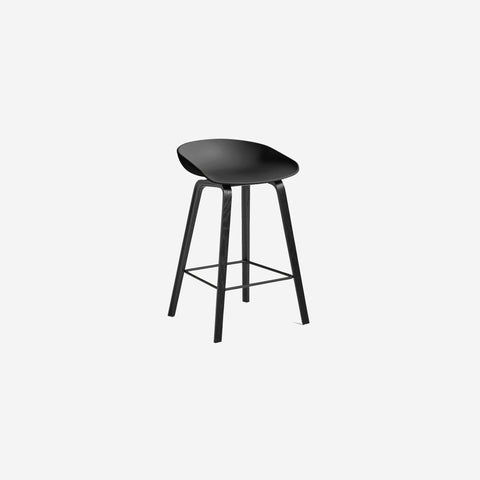 SIMPLE FORM.-Hay AAS32 Black + Black Stool