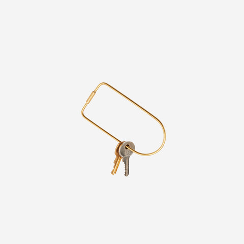 SIMPLE FORM. - Areaware - Contour Keyring Brass Bend - Keyring