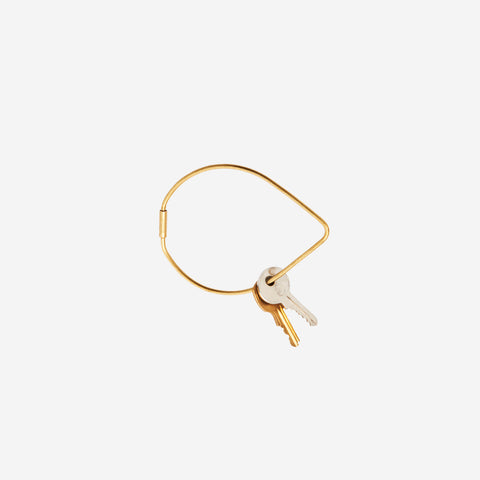 SIMPLE FORM. - Areaware - Contour Keyring Brass Drop - Keyring