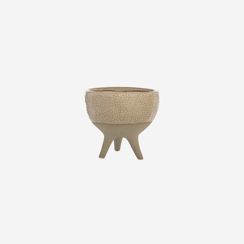 SIMPLE FORM.-Bloomingville Tripod Ceramic Pot Pot