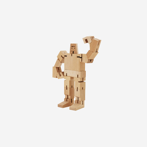 SIMPLE FORM. - Areaware - Cubebot Small Robot Natural - Figurine