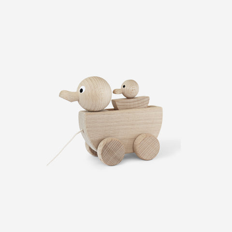 Ella and Frederik - Dorothy & Daphne Duck Pullalong - Wooden Toy  SIMPLE FORM.