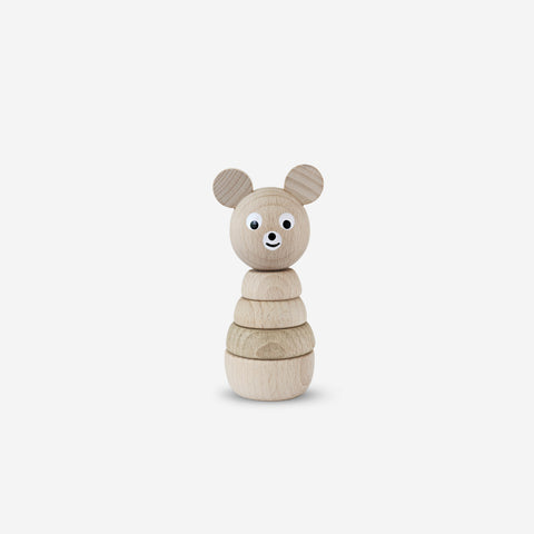 Ella and Frederik - Wilbert The Bear - Wooden Toy  SIMPLE FORM.