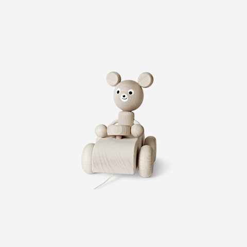 Ella and Frederik - Wilbert in the car - Wooden Toy  SIMPLE FORM.
