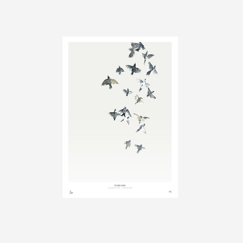 My Deer - Flying High Watercolour Print - Prints  SIMPLE FORM.