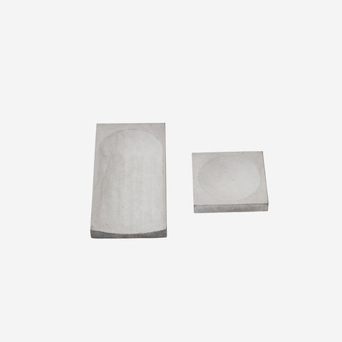 SIMPLE FORM.-Kristina Dam Concrete Trays Sculpture