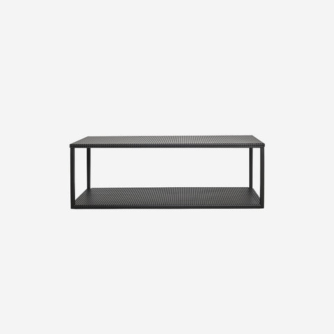 SIMPLE FORM.-Kristina Dam Grid Wall Shelf Black Shelf