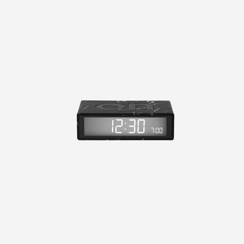 SIMPLE FORM. - Lexon - Flip Clock Warm Grey - Clock