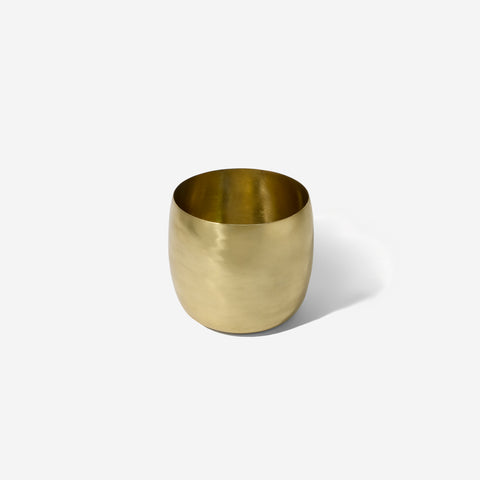 SIMPLE FORM.-Lightly Brass Planter Planter