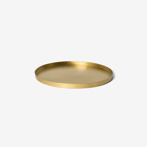 SIMPLE FORM.-Lightly Brass Round Infinity Tray Tray