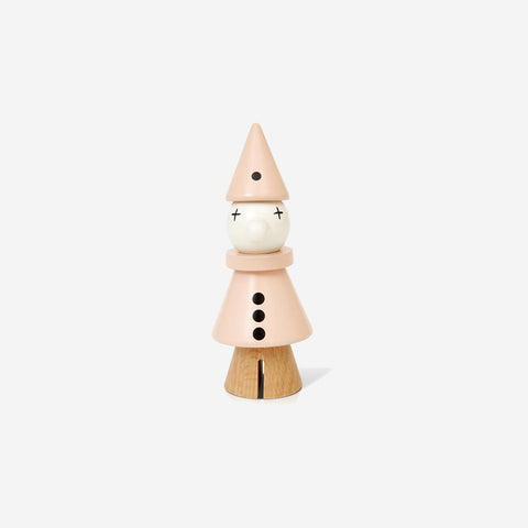 SIMPLE FORM.-Lucie Kaas Beechwood Clown Rose Wooden Toy