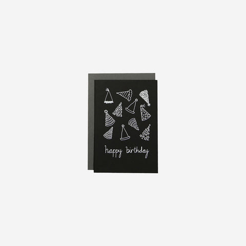 SIMPLE FORM. - Me and Amber - Card Happy Birthday Party Hats - Greeting Card
