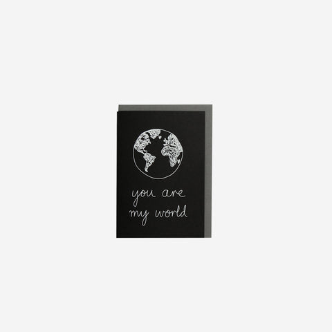 SIMPLE FORM. - Me and Amber - Card You Are My World - Greeting Card