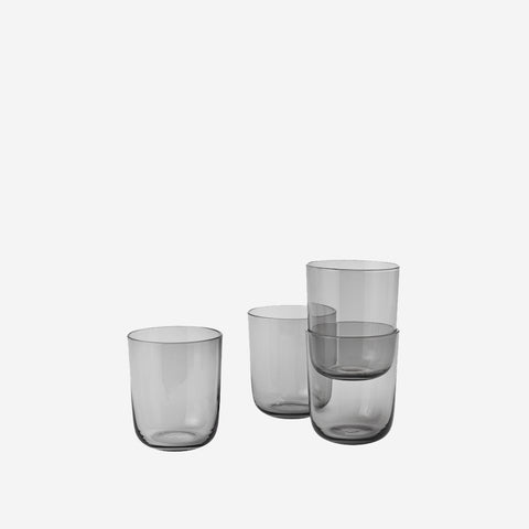 SIMPLE FORM. - Muuto - Corky Drinking Glasses Grey High - Cups & Mugs
