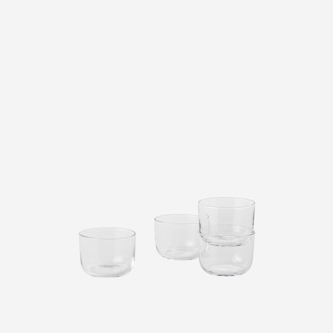 SIMPLE FORM. - Muuto - Corky Drinking Glasses Clear Low by Muuto - Cups & Mugs