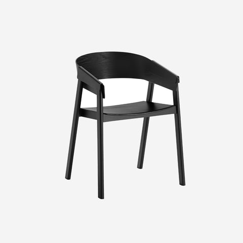 SIMPLE FORM.-Muuto Cover Chair Black Chair