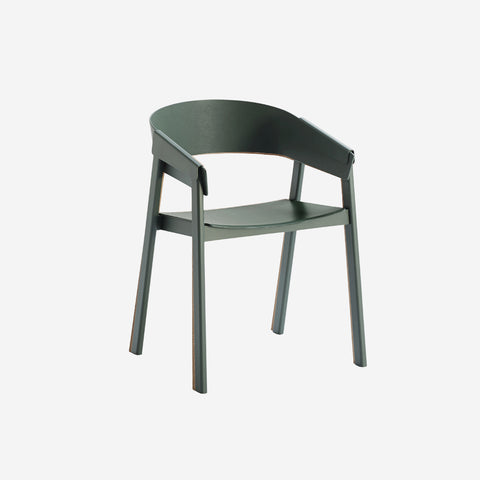 SIMPLE FORM.-Muuto Cover Chair Green Chair