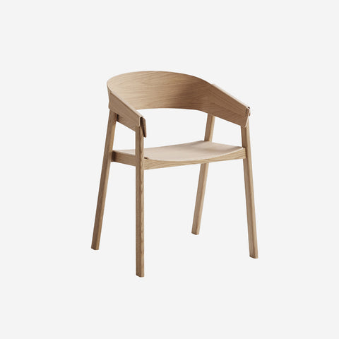 SIMPLE FORM.-Muuto Cover Chair Oak Chair