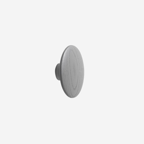 SIMPLE FORM. - Muuto - Dot Hook Wood Dark Grey Large by Muuto - Hook