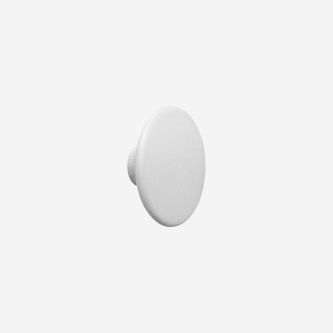 SIMPLE FORM. - Muuto - Dot Hook Wood White Large by Muuto - Hook