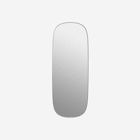 SIMPLE FORM.-Muuto Framed Mirror Large Grey Mirror