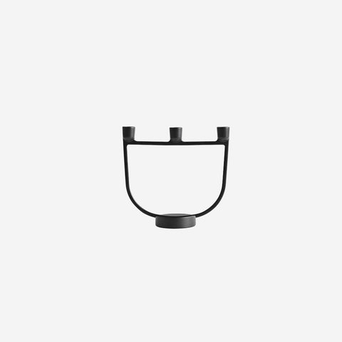 Muuto - Open Candelabra Black by Muuto - Candle Holder  SIMPLE FORM.