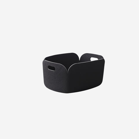 Muuto - Restore Basket Black By Muuto - Basket  SIMPLE FORM.