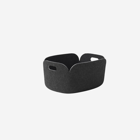 Muuto - Restore Basket Black Melange By Muuto - Basket  SIMPLE FORM.