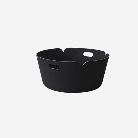 SIMPLE FORM. - Muuto - Restore Round Basket Black - Basket