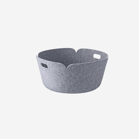 SIMPLE FORM. - Muuto - Restore Round Basket Grey Melange By Muuto - Basket