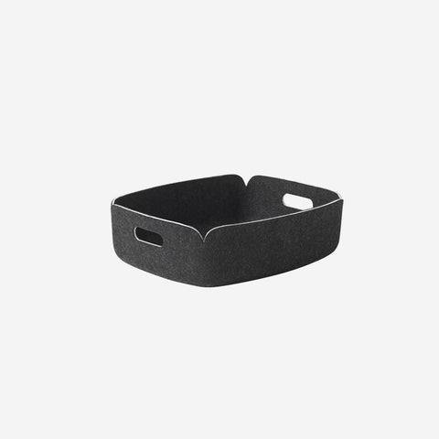 SIMPLE FORM. - Muuto - Restore Tray Basket Black Melange By Muuto - Basket