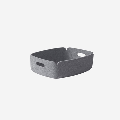 Muuto - Restore Tray Basket Grey Melange By Muuto - Basket  SIMPLE FORM.