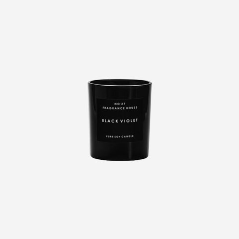 SIMPLE FORM.-No.27 Fragrance House Black Violet Candle Candle