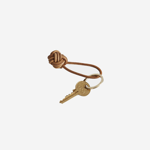 SIMPLE FORM.-OYOY Living Leather Keyring Knot Key Ring